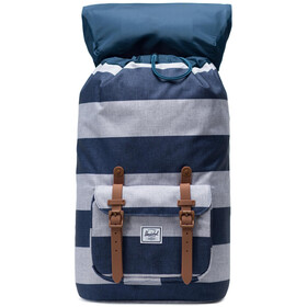 Herschel Little America Sac à dos, border stripe/saddle brown